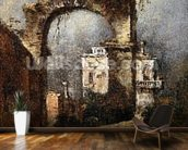 A Capriccio - A Ruined Arch, 18th cenury wall mural kitchen preview