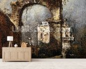 A Capriccio - A Ruined Arch, 18th cenury wall mural living room preview