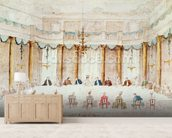 Festive Dinner Given to Celebrate the Marriage of Armand (1771-1847) Duke of Polignac to the Baroness Idalia of Neukirchen at Villa Gradenigo, Carpenedo, 1790 (w/c over graphite with pen & ink on paper) wall mural living room preview