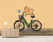 Cat Cycle wall mural living room preview