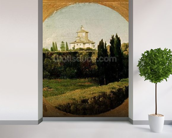 View of the Villa Medici, Rome (oil on canvas) wall mural room setting