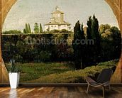 View of the Villa Medici, Rome (oil on canvas) wall mural kitchen preview