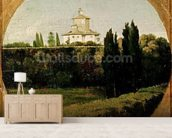 View of the Villa Medici, Rome (oil on canvas) wall mural living room preview