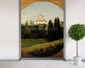 View of the Villa Medici, Rome (oil on canvas) wall mural in-room view