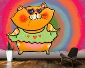 Cool Cat wallpaper mural kitchen preview