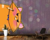 Cat Spy wallpaper mural kitchen preview