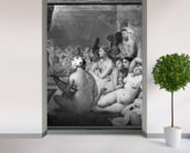 The Turkish Bath, 7th October 1859 (oil on canvas) (b/w photo) mural wallpaper in-room view