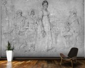 The Forestier Family, 1806 (graphite on paper) (b/w photo) (see also 233242) wall mural kitchen preview
