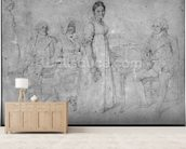 The Forestier Family, 1806 (graphite on paper) (b/w photo) (see also 233242) wall mural living room preview