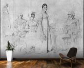 The Forestier Family (graphite on paper) (b/w photo) (see also 233241) wallpaper mural kitchen preview