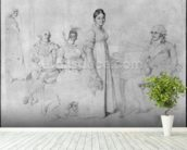The Forestier Family (graphite on paper) (b/w photo) (see also 233241) wallpaper mural in-room view