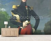 Ferdinand-Philippe (1810-42) Duke of Orleans in the Park at Saint-Cloud, 1843 (oil on canvas) wallpaper mural living room preview
