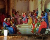 Jesus Among the Doctors, 1862 (oil on canvas) mural wallpaper kitchen preview