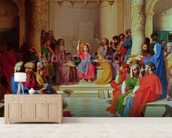 Jesus Among the Doctors, 1862 (oil on canvas) mural wallpaper living room preview