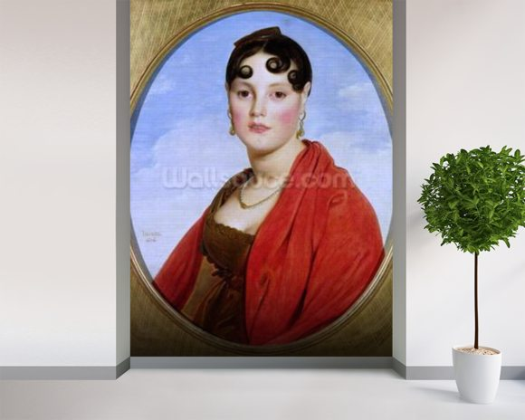 Portrait of Madame Aymon, or La Belle Zelie, 1806 (oil on canvas) (see also 83560) wall mural room setting