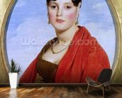 Portrait of Madame Aymon, or La Belle Zelie, 1806 (oil on canvas) (see also 83560) wall mural kitchen preview