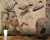 Study of Heads and Hands for the Apotheosis of Homer (oil on canvas) wall mural kitchen preview