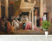 Antiochus and Stratonice, 1840 (oil on canvas) wallpaper mural in-room view