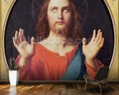 Christ (oil on canvas) wallpaper mural kitchen preview