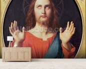 Christ (oil on canvas) wallpaper mural living room preview