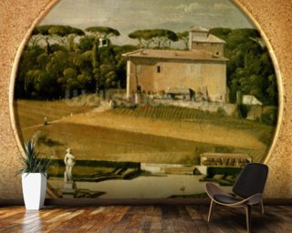 Casino of Raphael in the gardens of the Villa Borghese, Rome, 1807 (oil on canvas) wall mural