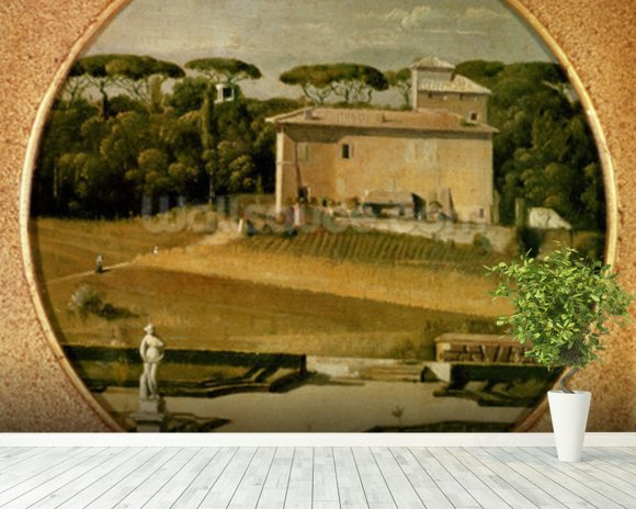 Casino of Raphael in the gardens of the Villa Borghese, Rome, 1807 (oil on canvas) wall mural room setting