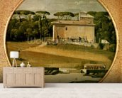 Casino of Raphael in the gardens of the Villa Borghese, Rome, 1807 (oil on canvas) wall mural living room preview