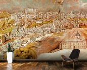 Apotheosis of Napoleon I, detail of the chariot of Napoleon, 1853 (oil on canvas) wall mural kitchen preview