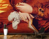 Portrait of Madame Marcotte, detail of her hands, 1826 (oil on canvas) (detail of 83538) wallpaper mural kitchen preview