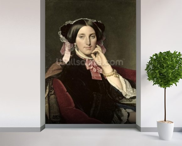 Madame Gonse, 1852 (oil on canvas) wall mural room setting