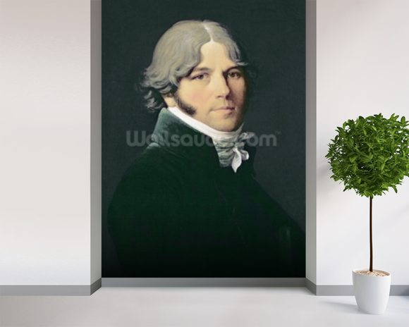Portrait of the Artists Father, 1804 (oil on canvas) wallpaper mural room setting