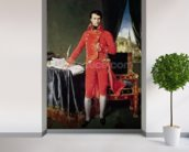 Bonaparte as First Consul, 1804 (oil on canvas) mural wallpaper in-room view