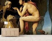 Oedipus and the Sphinx, 1808 (oil on canvas) wall mural living room preview