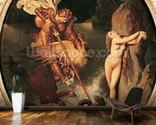 Ruggiero Rescuing Angelica, 1841 (oil on canvas) wall mural kitchen preview