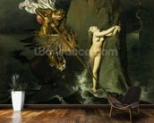 Ruggiero Rescuing Angelica, 1819 (oil on canvas) mural wallpaper kitchen preview