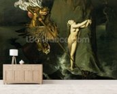 Ruggiero Rescuing Angelica, 1819 (oil on canvas) mural wallpaper living room preview