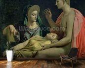Virgil 70-19 BC) Reading the Aeneid to Livia, Octavia and Augustus, 1819 (oil on canvas) wall mural kitchen preview