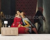 Gianciotto Discovers Paolo and Francesca, 1814 (oil on canvas) mural wallpaper living room preview