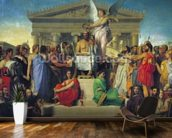 Apotheosis of Homer, 1827 (oil on canvas) wallpaper mural kitchen preview