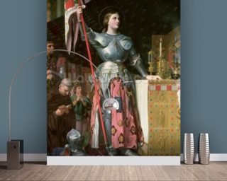 Joan of Arc (1412-31) at the Coronation of King Charles VII (1403-61) 17th July 1429, 1854 (oil on canvas) wallpaper mural