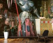 Joan of Arc (1412-31) at the Coronation of King Charles VII (1403-61) 17th July 1429, 1854 (oil on canvas) wallpaper mural kitchen preview