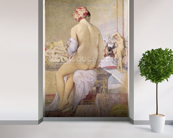 Odalisque or the Small Bather, 1864 (w/c on paper) wall mural room setting