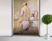 Odalisque or the Small Bather, 1864 (w/c on paper) wall mural in-room view