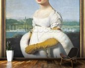Portrait of Mademoiselle Caroline Riviere (1793-1803) 1805 (oil on canvas) wallpaper mural kitchen preview