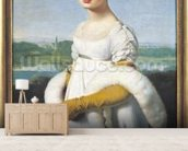 Portrait of Mademoiselle Caroline Riviere (1793-1803) 1805 (oil on canvas) wallpaper mural living room preview