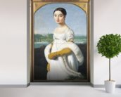 Portrait of Mademoiselle Caroline Riviere (1793-1803) 1805 (oil on canvas) wallpaper mural in-room view