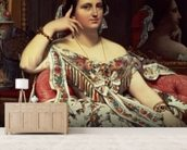 Madame Moitessier, 1856 (oil on canvas) mural wallpaper living room preview