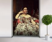 Madame Moitessier, 1856 (oil on canvas) mural wallpaper in-room view