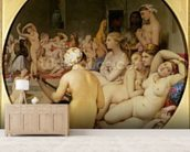 The Turkish Bath, 1863 (oil on canvas) (see also 429034) wallpaper mural living room preview