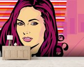 Pop Art - Beauty wallpaper mural living room preview